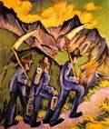Alpine Life Triptych (left panel) (1918)