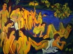 Bathers at Moritzburg (1909)