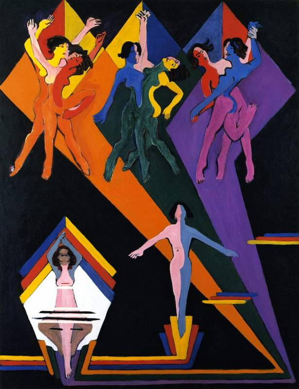 Dancing Girls in Rays of Color (1932-1937)
