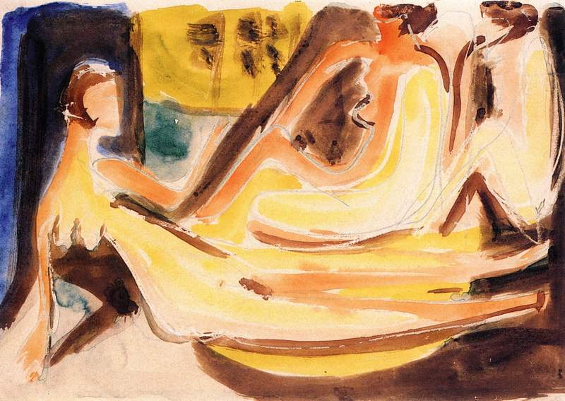 Three Nudes in the Forest (1933)
