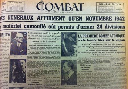 Combat, 7 aout 1945